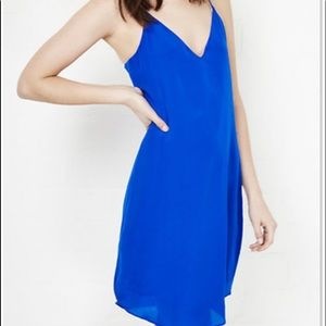 J. Crew Blue Simple Slip Dress Lined Size 10
